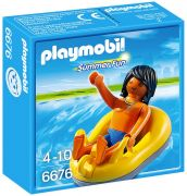 PLAYMOBIL Summer Fun 6676 Vacancier et bouée de rafting