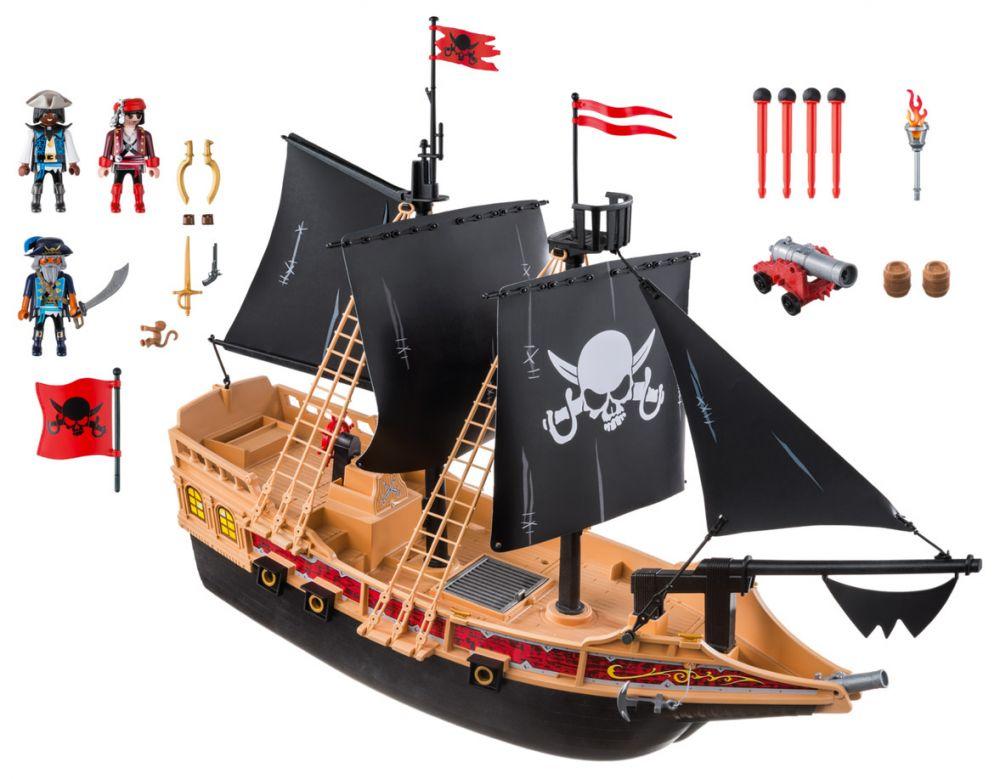 playmobil pirates 6678 pas cher bateau pirates des t n bres. Black Bedroom Furniture Sets. Home Design Ideas