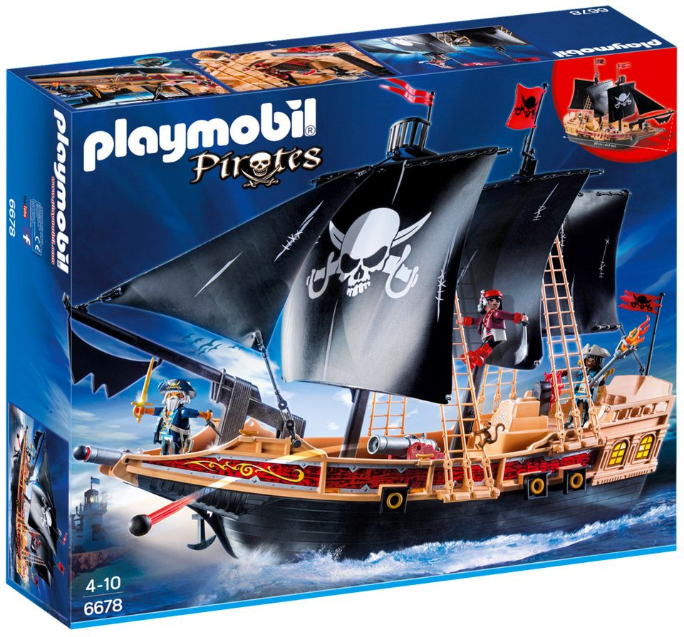 playmobil pirates 6678 pas cher bateau pirates des t n bres. Black Bedroom Furniture Sets. Home Design Ideas