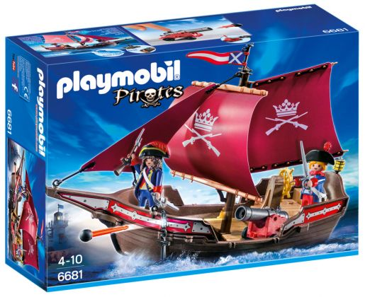 PLAYMOBIL Pirates 6681 Chaloupe des soldats