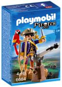 PLAYMOBIL Pirates 6684 - Capitaine pirate avec canon pas cher