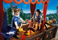 PLAYMOBIL Super 4 6695 Tribune royale avec Alex