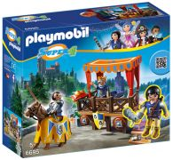 PLAYMOBIL Super 4 6695 - Tribune royale avec Alex pas cher