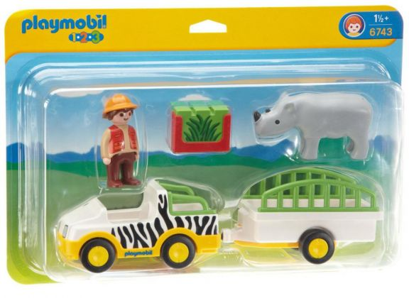 PLAYMOBIL 123 6743 Transport de rhinocéros