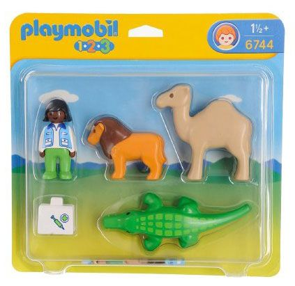playmobil 123 6744 pas cher v t rinaire et animaux sauvages. Black Bedroom Furniture Sets. Home Design Ideas