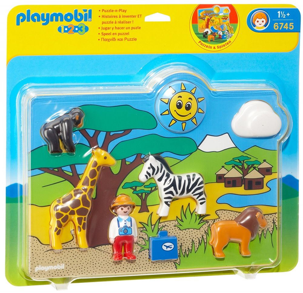 playmobil 123 6745 pas cher puzzle animaux sauvages. Black Bedroom Furniture Sets. Home Design Ideas