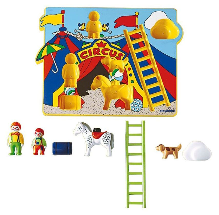 playmobil 123 6747 pas cher puzzle cirque. Black Bedroom Furniture Sets. Home Design Ideas