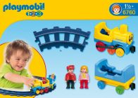 PLAYMOBIL 123 6760 Train avec rails
