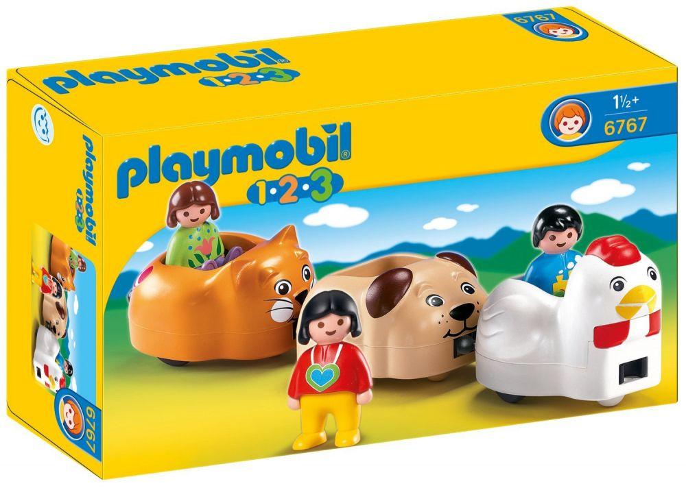 playmobil 123 6767 pas cher train des animaux. Black Bedroom Furniture Sets. Home Design Ideas