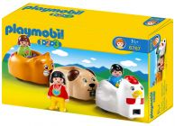 PLAYMOBIL 123 6767 Train des animaux