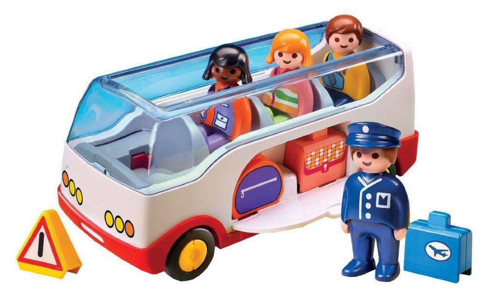 Playmobil 123 6773 pas cher autocar de voyage - Autocar playmobil ...