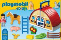 playmobil 123 6778 pas cher ferme transportable. Black Bedroom Furniture Sets. Home Design Ideas