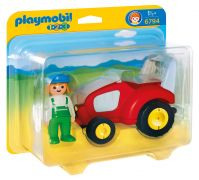 PLAYMOBIL 123 6794 - Agricultrice avec tracteur pas cher
