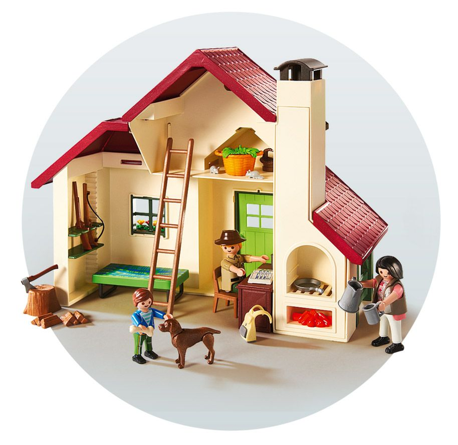 playmobil country 6811 pas cher maison foresti re. Black Bedroom Furniture Sets. Home Design Ideas