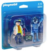 PLAYMOBIL City Action 6844 Inventeur et robot