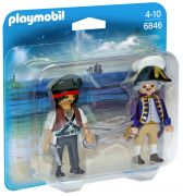 PLAYMOBIL Pirates 6846 - Pirate et soldat royal pas cher