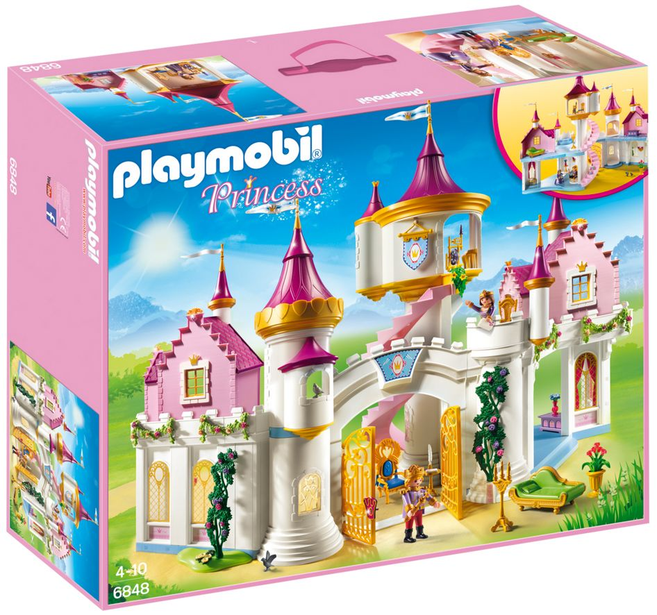 Playmobil princess 6848 pas cher grand ch teau de princesse for Image chateau princesse