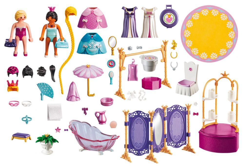 playmobil princess 6850 pas cher salon de beaut avec princesses. Black Bedroom Furniture Sets. Home Design Ideas
