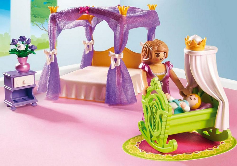 PLAYMOBIL Princess 6851 pas cher - Chambre de la reine avec lit à ...