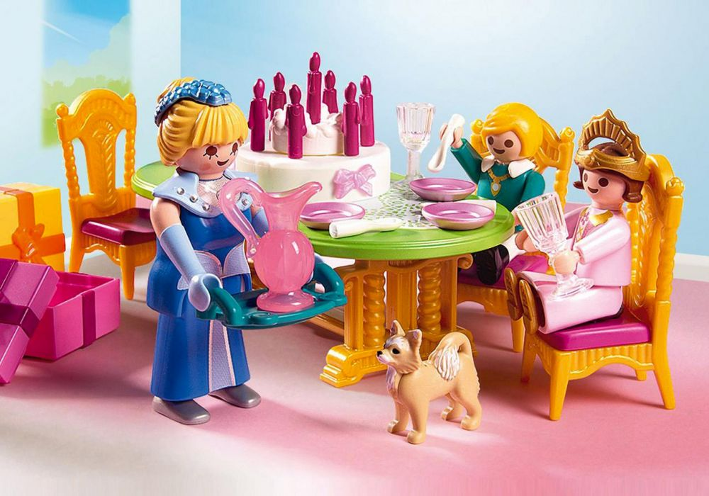 Playmobil princess 6854 pas cher salle manger pour for Salle a manger playmobil 5335