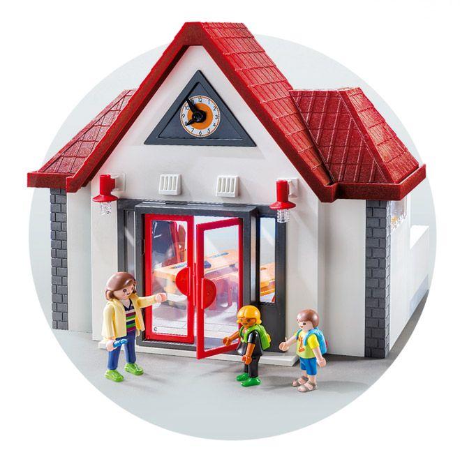 Playmobil city life 6865 pas cher ecole avec salle de classe for Salle a manger playmobil city life