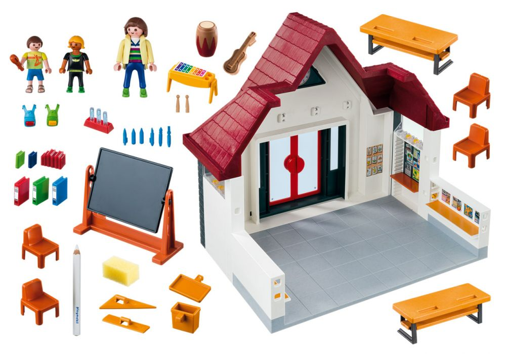playmobil city life 6865 pas cher ecole avec salle de classe. Black Bedroom Furniture Sets. Home Design Ideas