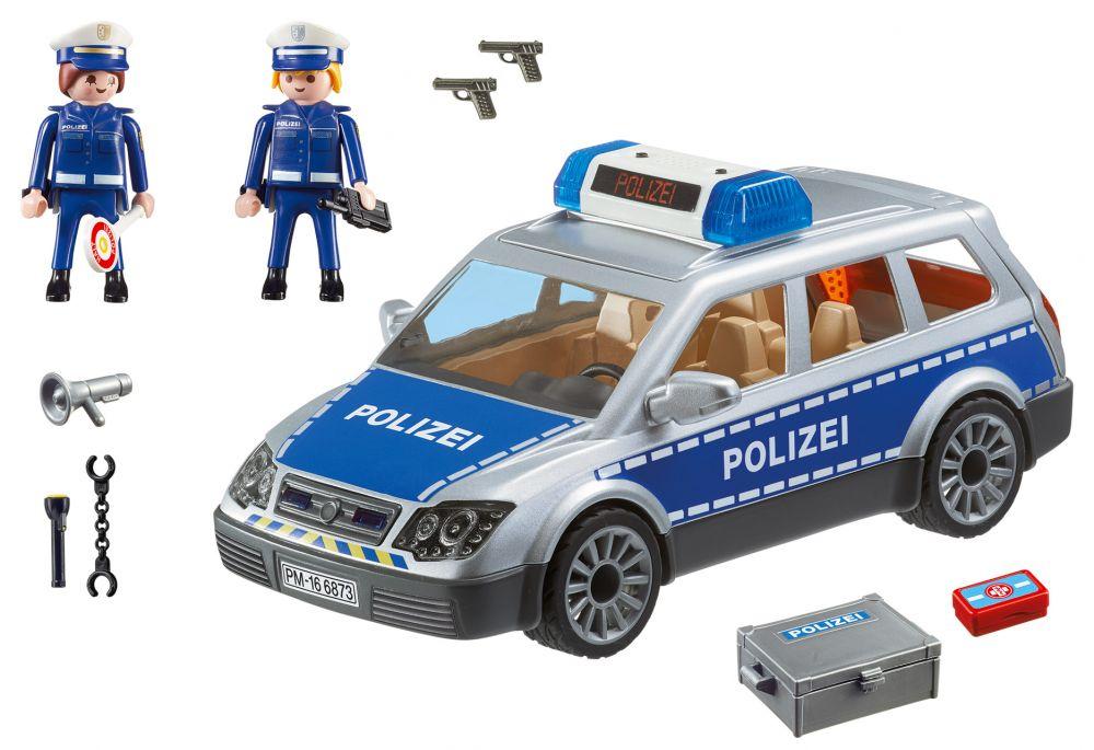 playmobil city action 6873 pas cher voiture de policiers avec gyrophare et sir ne. Black Bedroom Furniture Sets. Home Design Ideas