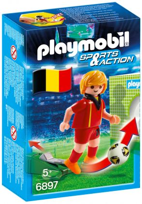 PLAYMOBIL Sports & Action 6897 Joueur de foot Belge