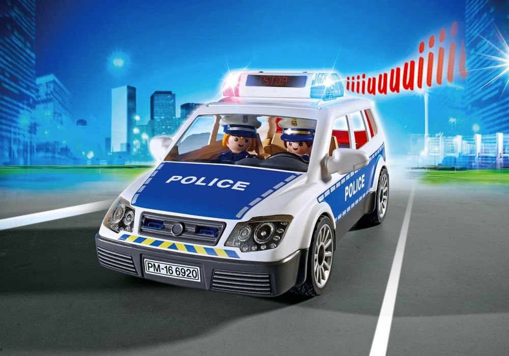 playmobil city action 6920 pas cher voiture de policiers avec gyrophare et sir ne. Black Bedroom Furniture Sets. Home Design Ideas