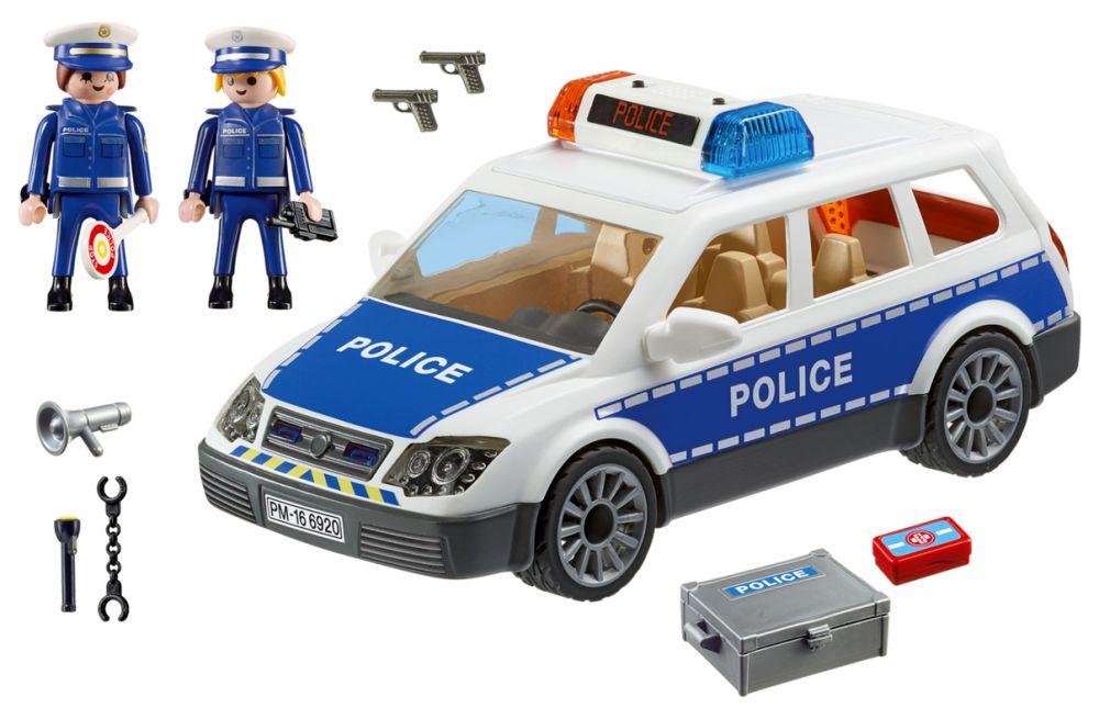playmobil city action 6920 pas cher voiture de policiers avec gyrophare et sir ne. Black Bedroom Furniture Sets. Home Design Ideas
