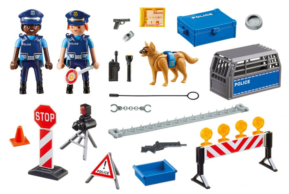 playmobil city action 6924 pas cher barrage de police. Black Bedroom Furniture Sets. Home Design Ideas