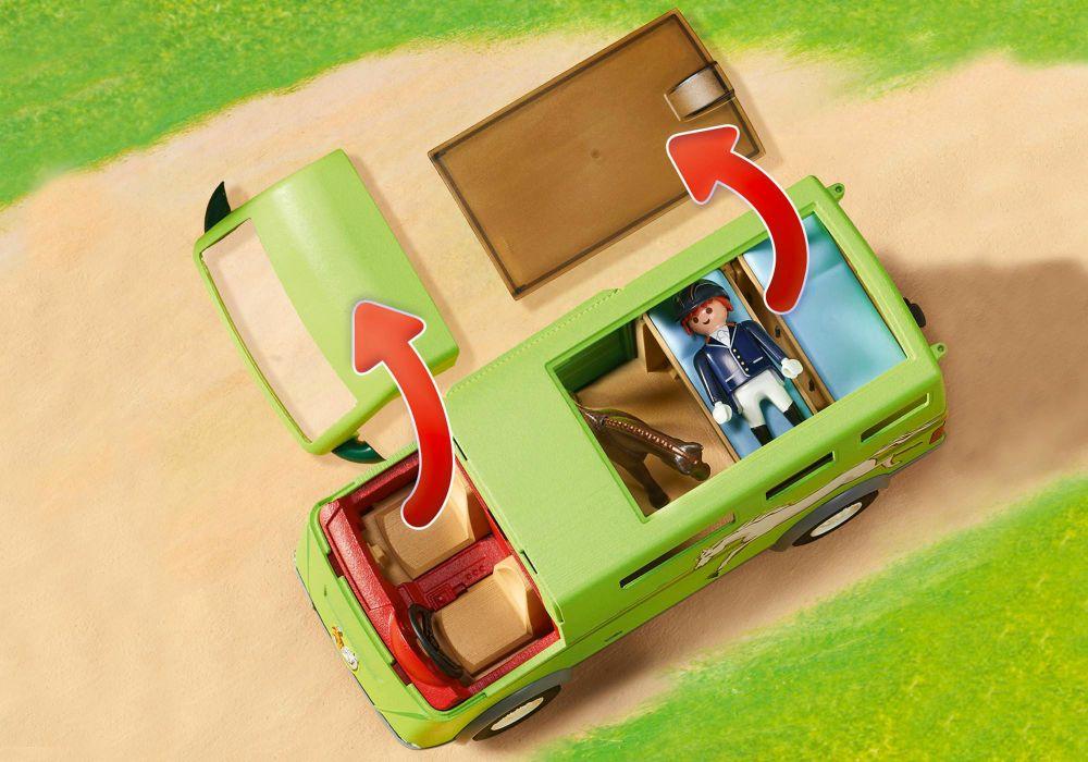 Playmobil Country 6928 Pas Cher Cavalier Avec Van Et Cheval