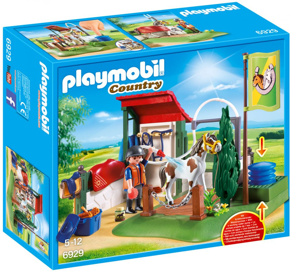 playmobil country 6929 pas cher box de lavage pour chevaux. Black Bedroom Furniture Sets. Home Design Ideas