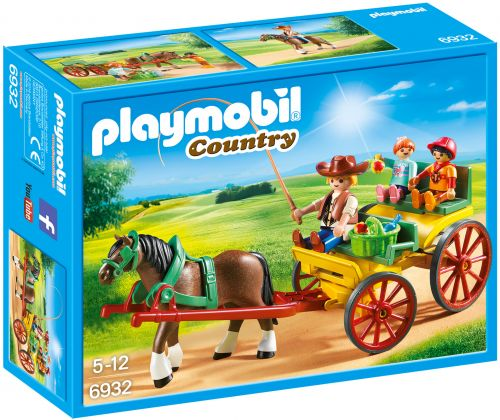 PLAYMOBIL Country 6932 Calèche avec attelage