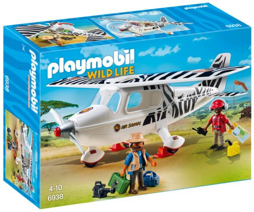 PLAYMOBIL Wild Life 6938 Avion avec explorateurs