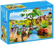 PLAYMOBIL Country 6947 - Cavaliers avec poneys et cheval pas cher