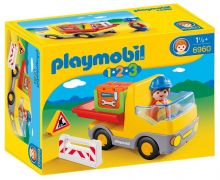 PLAYMOBIL 123 6960 - Camion benne pas cher