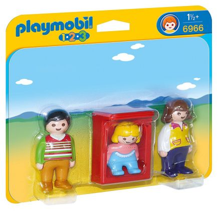PLAYMOBIL 123 6966 Parents avec bébé