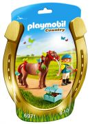 PLAYMOBIL Country 6971 - Poney à décorer Papillon pas cher