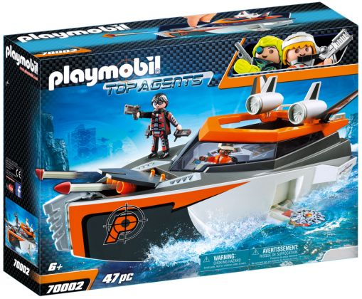 PLAYMOBIL Top Agents 70002 Bateau Turbo Spy Team