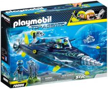 PLAYMOBIL Top Agents 70005 Sous-marin d'attaque S.H.A.R.K Team