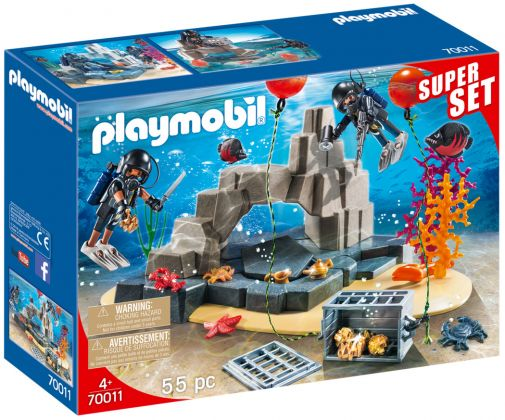 PLAYMOBIL City Action 70011 SuperSet Unité de plongée sous-marine