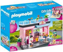 PLAYMOBIL City Life 70015 - Salon de thé pas cher