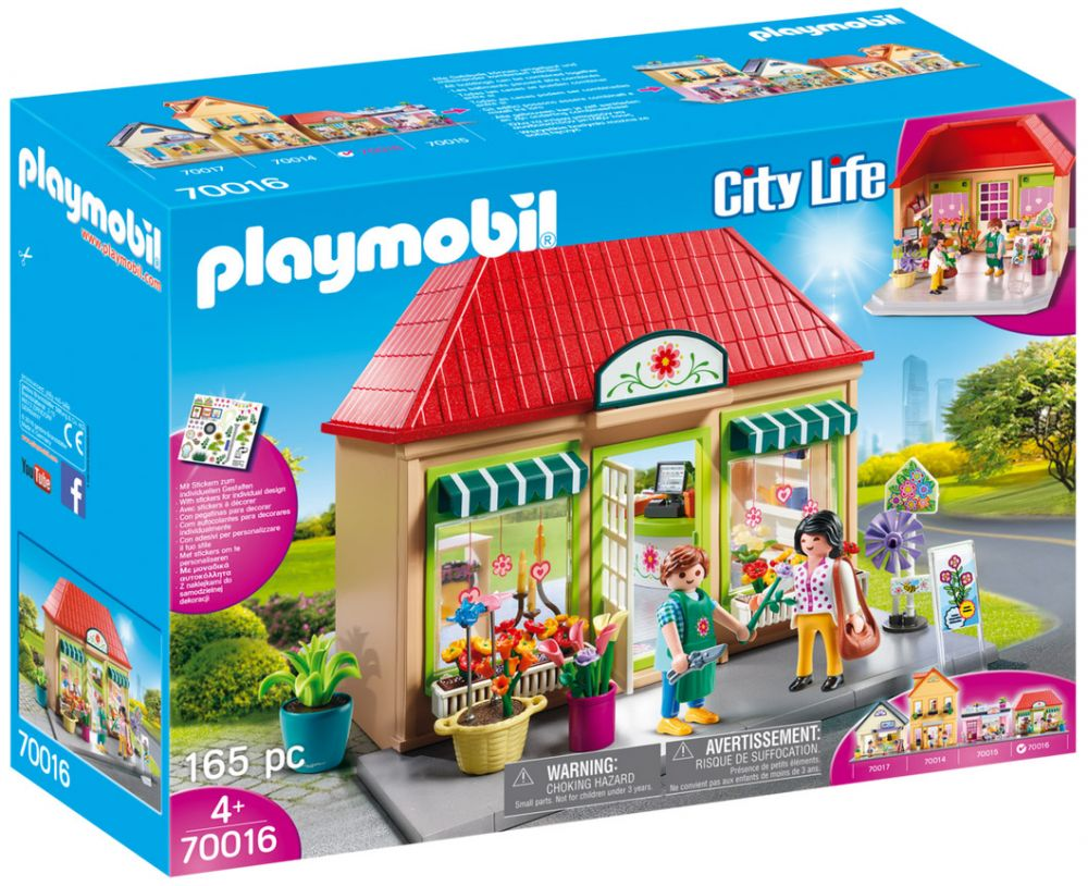 playmobil city life 70016 pas cher magasin de fleurs. Black Bedroom Furniture Sets. Home Design Ideas
