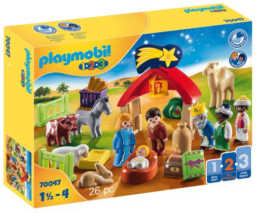 PLAYMOBIL 123 70047 Animaux et mangeoire