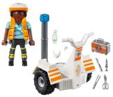 PLAYMOBIL City Life 70052 Secouriste et gyropode