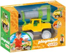 PLAYMOBIL 123 70064 Sand : Camion avec foreuse