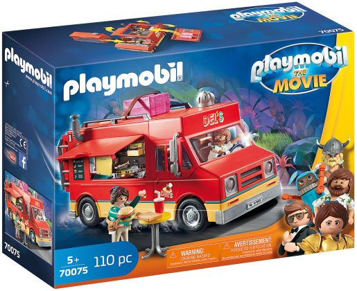PLAYMOBIL Le Film 70075 Food Truck de Del