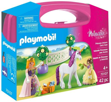 PLAYMOBIL Princess 70107 Valisette Princesses avec licorne