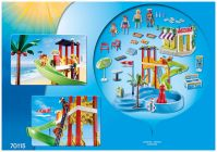PLAYMOBIL Family Fun 70115 Parc aquatique et café